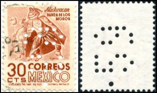 Perfins on the Stamps of Mexico