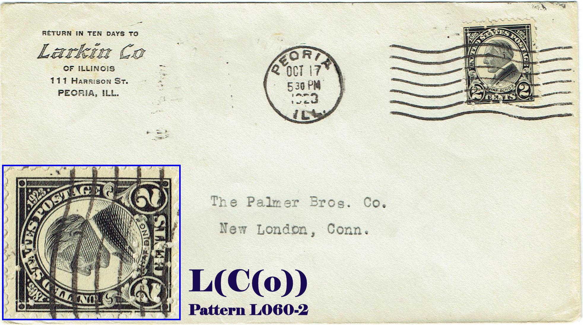 "U S Perfin Covers ""L"" Patterns"
